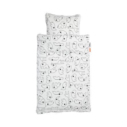 Done by Deer™ Parure de lit enfant Contour blanc 70x100 cm