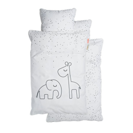 Done by Deer™ Ropa de cama Junior puntitos gris 100 x 140 cm