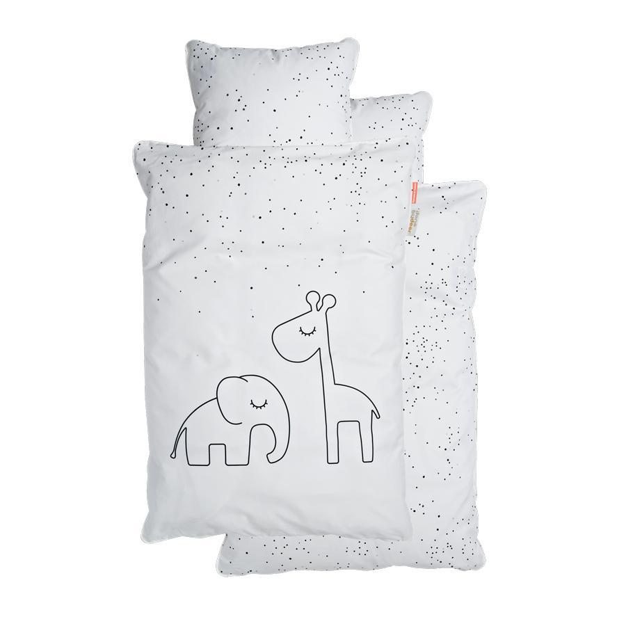 Done by Deer™ Parure de lit enfant Junior Dreamy pois gris 100x140 cm