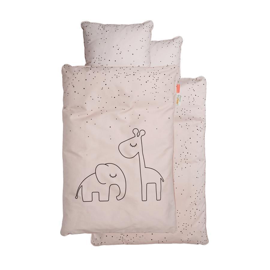 Done by Deer™ Ropa de cama Junior puntitos rosa empolvado 100 x 140 cm