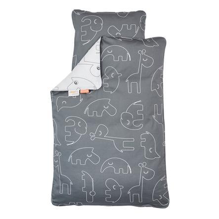 Done by Deer™ Parure de lit enfant Junior Sleepy gris 100x135 cm