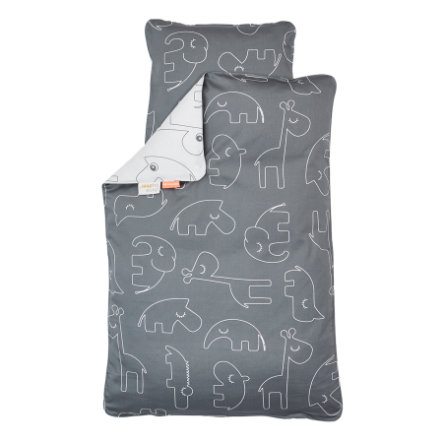 Done by Deer™ Ropa de cama Junior Sleepy gris 100 x 135 cm