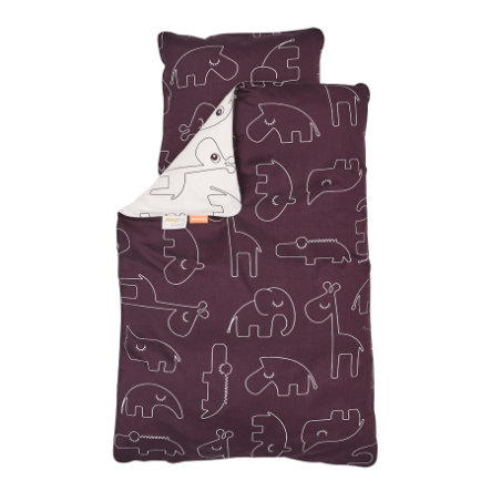 Done by Deer™ Ropa de cama Junior Sleepy rosa empolvado 100 x 135 cm