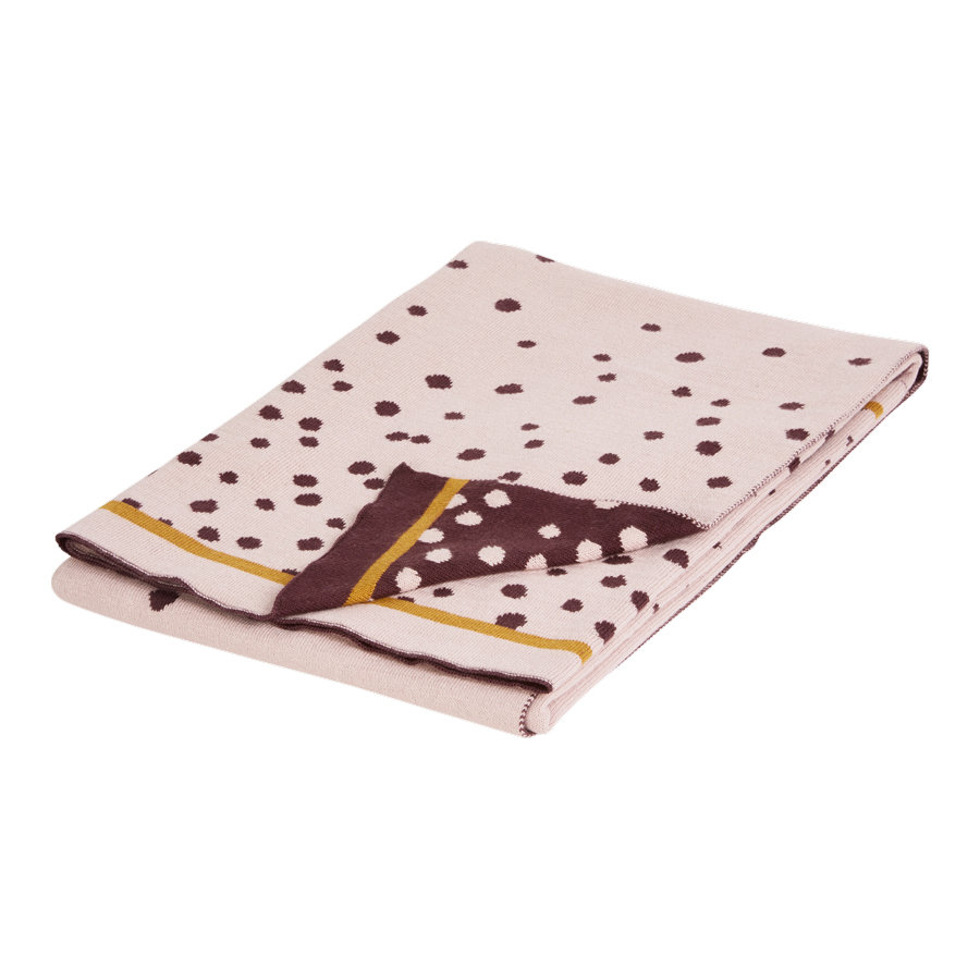 Done by Deer™ Strickdecke Happy dots Puder 80x100 cm
