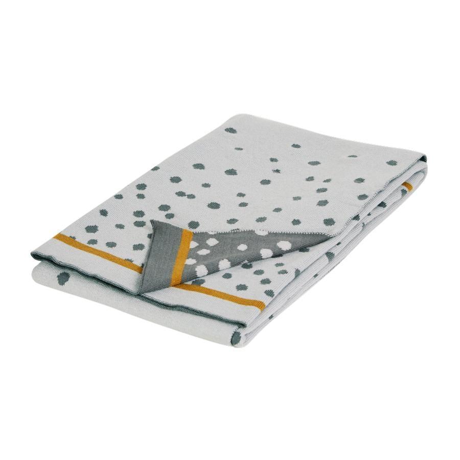 Done by Deer ™ Strikket tæppe Happy prikker grå 80x100 cm