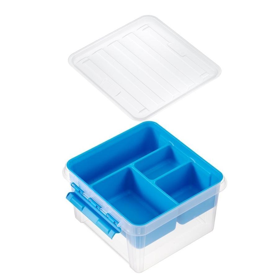 Orthex SmartStore™ Caja Class de almacenamiento ic 12 incl. inserto, azul