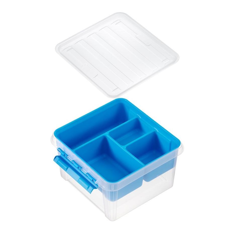 Orthex SmartStore ™ Úložný box třídy ic 12 vč. vložka, modrá