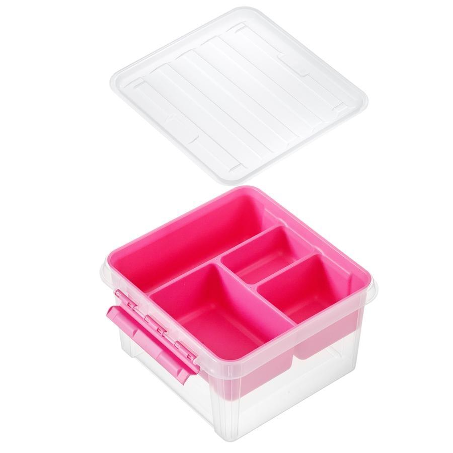 Orthex SmartStore ™ opbevaringsboks Klasse ic 12 inkl. indsæt lyserødt