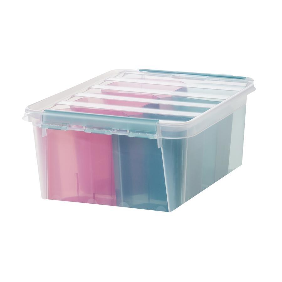 Orthex SmartStore™ Aufbewahrungsbox Colour 15 inkl. Einsatz, rosa/blau