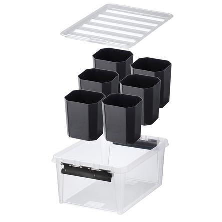 Orthex SmartStore™ Opbergdoosje Class ic 15 incl. zes inzetstukken, zwart