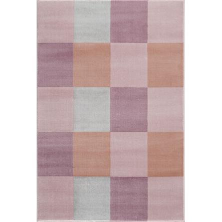 LIVONE Spiel- und Kinderteppich Happy Rugs - Checkerboard rosa,120 x 180 cm