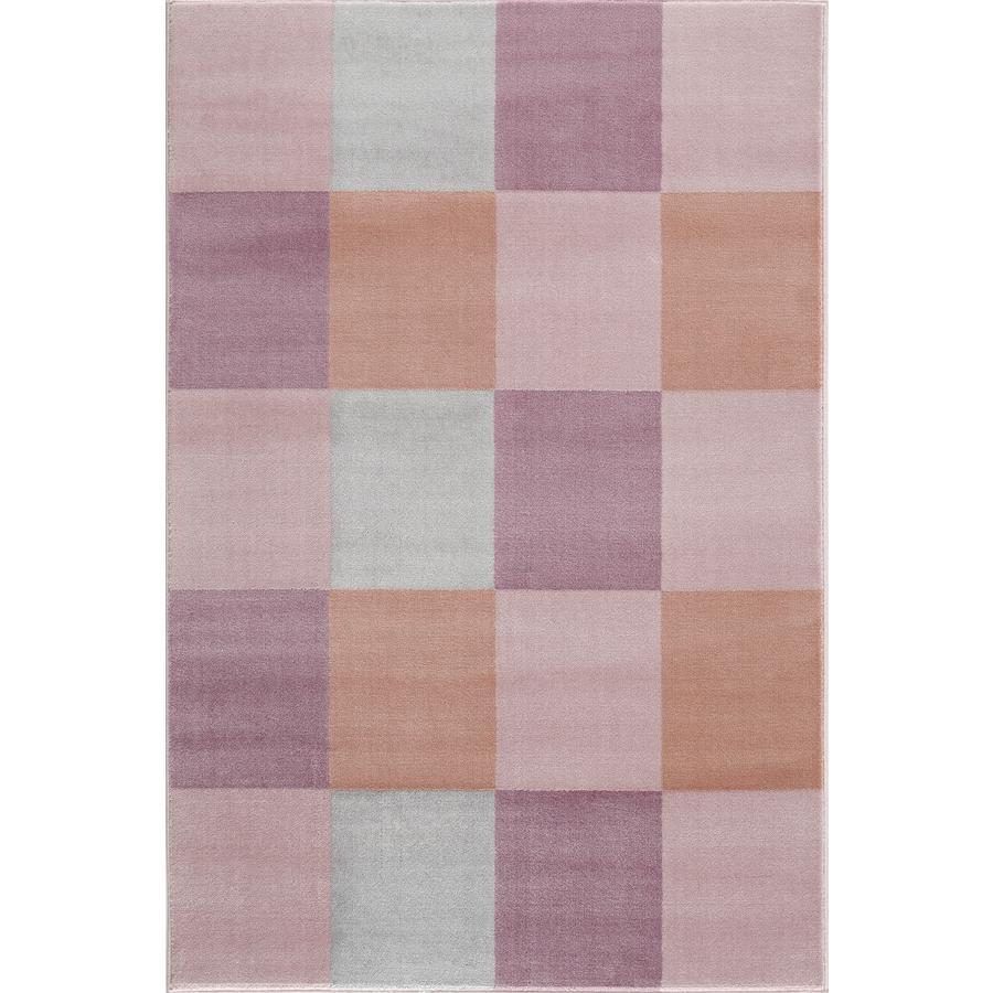 LIVONE Spiel- und Kinderteppich Happy Rugs - Checkerboard rosa,160 x 230 cm