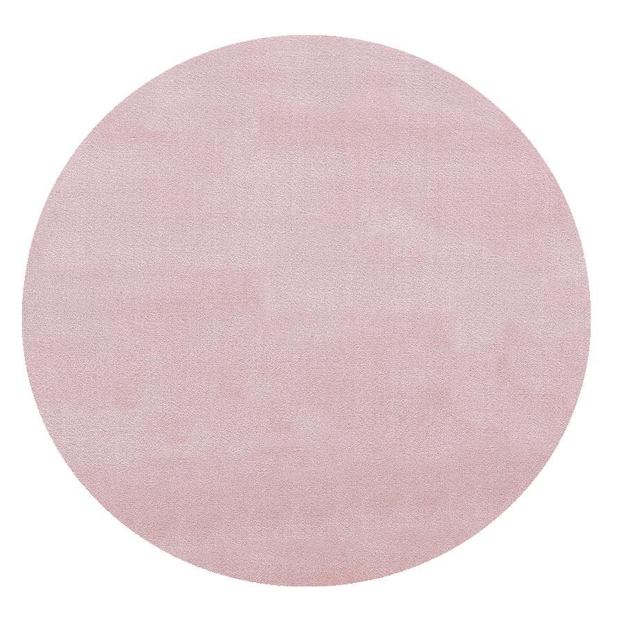 LIVONE leketøy og barneteppe Happy Rugs Uni Rund rosa, 133 cm