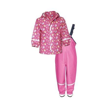 Playshoes Rain Set Stars rosa