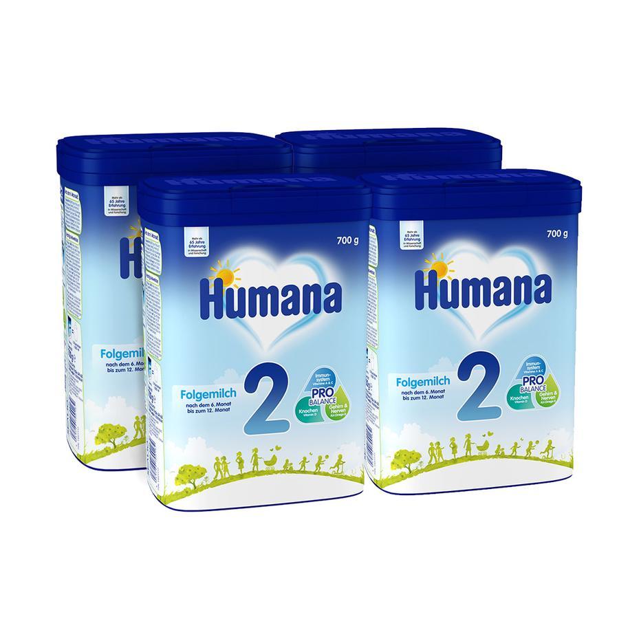 Humana Folgemilch 2 4 x 700 g nach dem 6. Monat