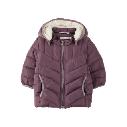 name it Girls Winterjas NBFMUS  black plum