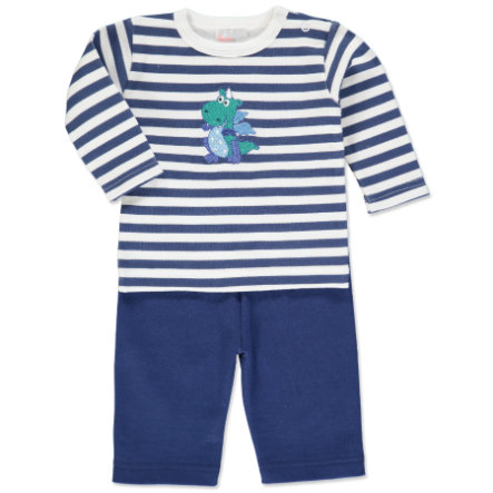 pink or blue Boys Set 2 pcs. Dragon light beige, blue stripes