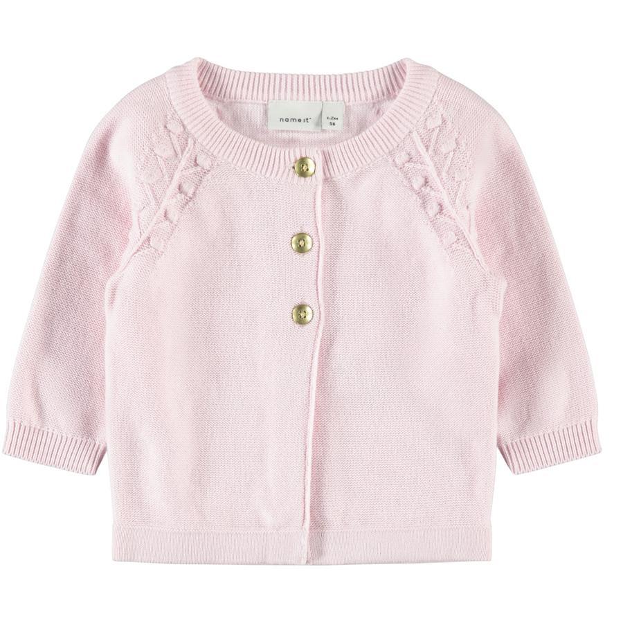 name it Cardigan Nbfomulle knap pink