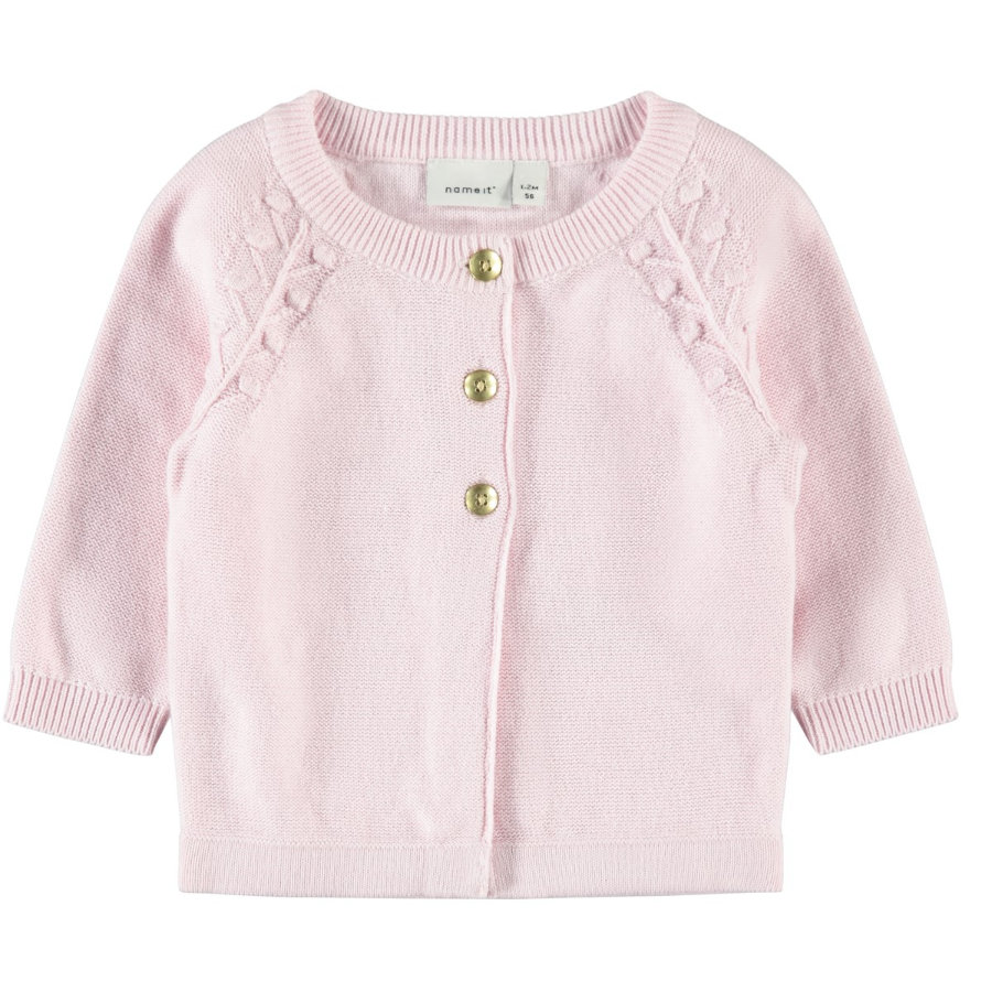 name it Strickjacke Nbfomulle barely pink