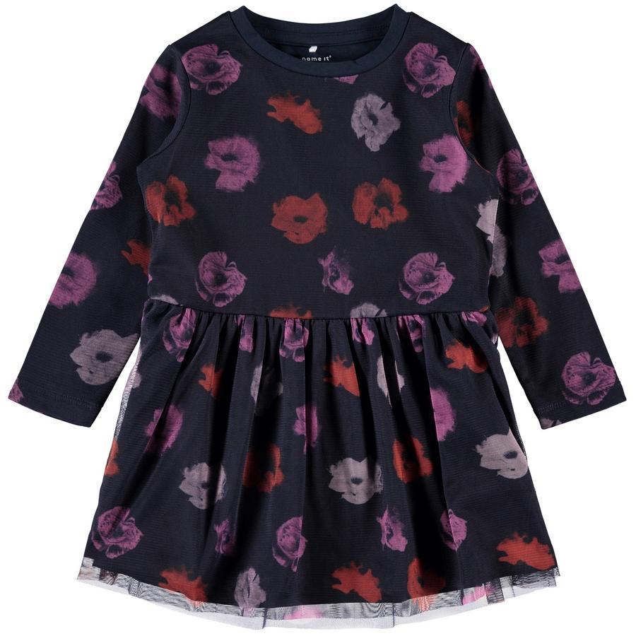 name it Girls Dress Olinas mørk safir