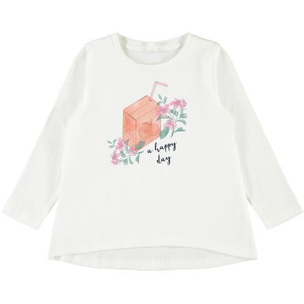 name it Girls Camisa manga larga Violeta nieve white