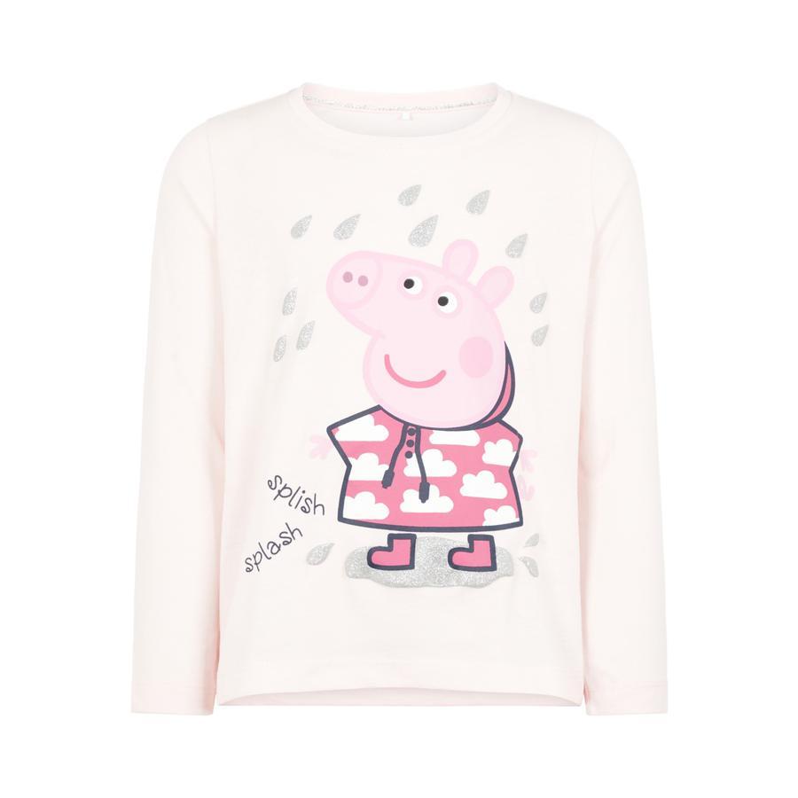 name it Flickor Långärmad tröja PeppaPig Silvia knappt rosa melange