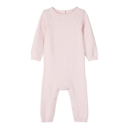 name it Stickad jumpsuit Omulle knappt rosa