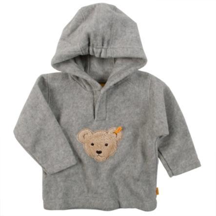 STEIFF Sweatshirt bébé à capuche en polaire Softgrey