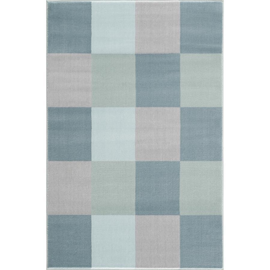 LIVONE Tapijt Happy Rugs Checkerboard blauw 120 x 180 cm