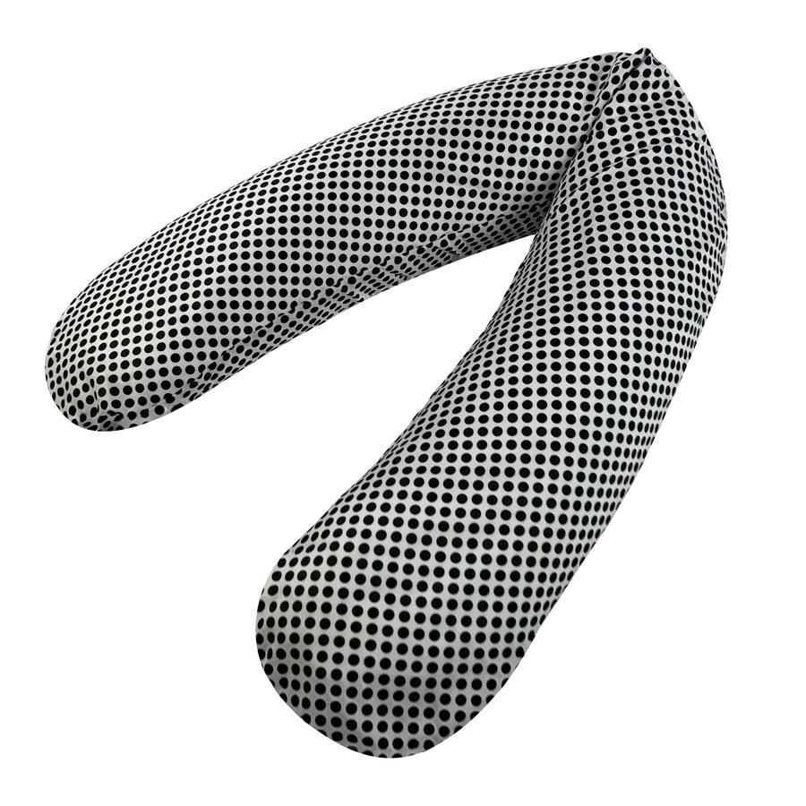 joyfill Coussin d'allaitement original Flexofill Black Dots 190 cm