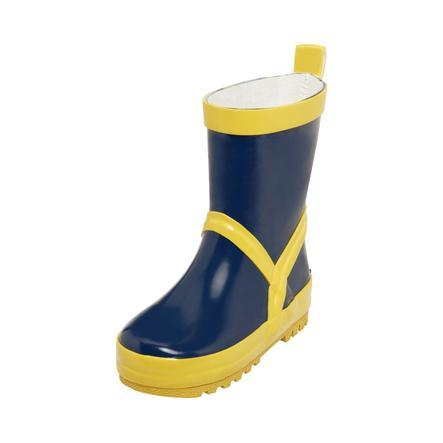 Playshoes Bottes enfant caoutchouc bleu marine/jaune