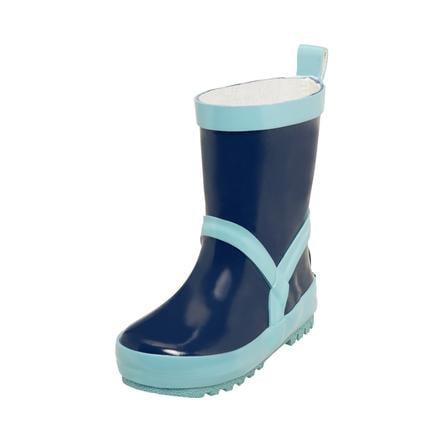 Playshoes  Bottes marine en caoutchouc / bleu clair