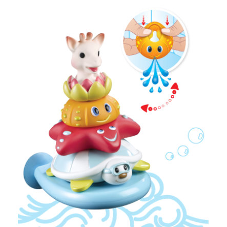 VULLI Jouet de bain pyramide Splash and Surf Sophie la girafe®