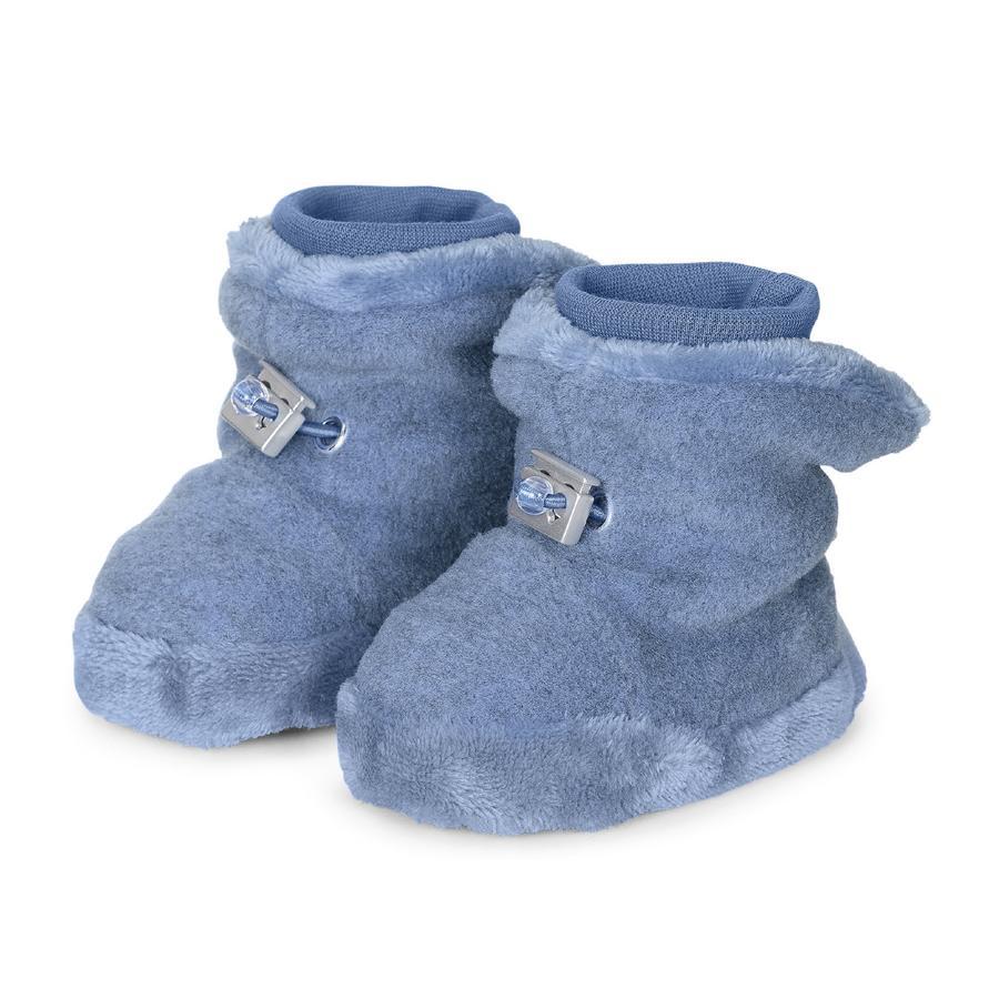 Sterntaler Babysko mediumblå melange