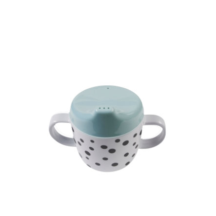 Done by Deer ™ bambini tazza Happy dots blu a partire dal 6° mese in poi