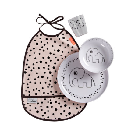 Done by Deer™ Servise sett Happy dots pink fra 6. måned