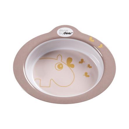 Done by Deer ™ Børnetallerken pink guld fra den 12. måned