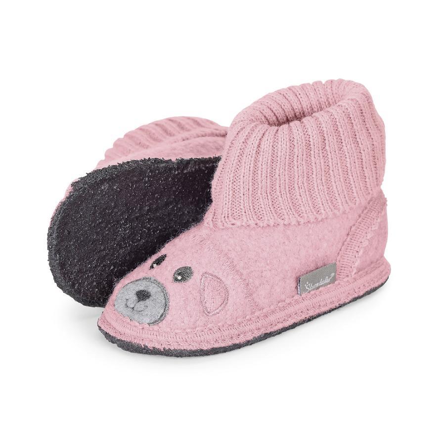 Sterntaler Girls Pantofle filcowe lekkie fioletowe niedźwiedzie