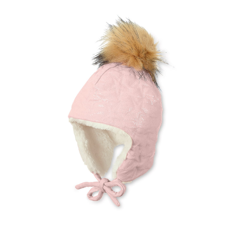 Sterntaler Girls Casquette inca pailletée rose pâle
