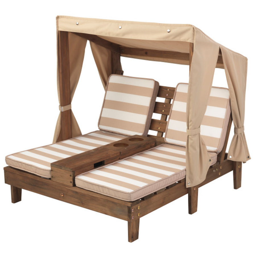 Kidkraft ® Dubbele ligstoel met drankhouders, beige