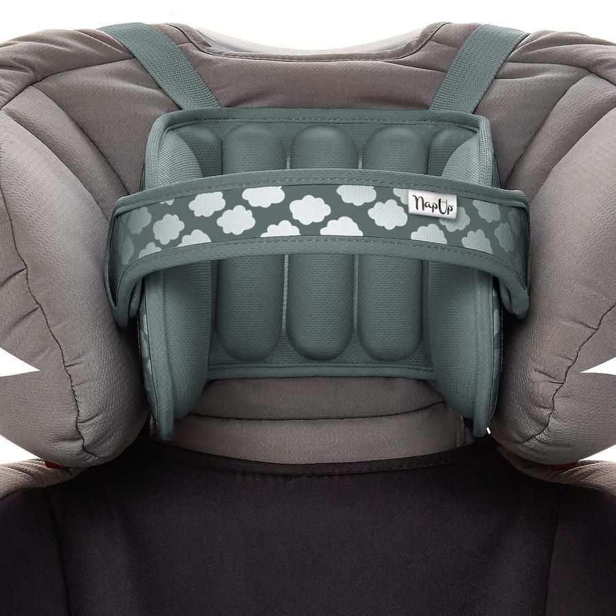 NapUp Original Szary - Komfortowe podparcie szyi podróżnej dla fotelików dziecięcych