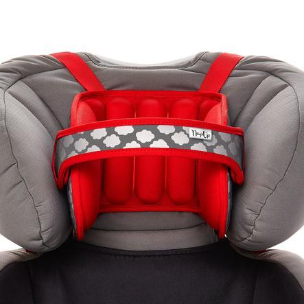 NapUp ™ Original czerwony - komfortowe podparcie szyi podróżnej dla fotelików dziecięcych