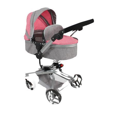 BAYER CHIC 2000 Kombi-Puppenwagen Yolo, melange pink