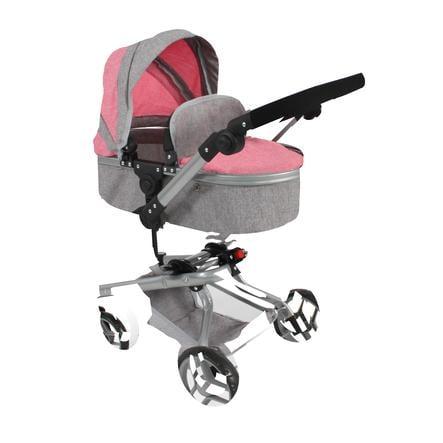 BAYER CHIC 2000 Wózek Kombi dla lalek Yolo - melange pink