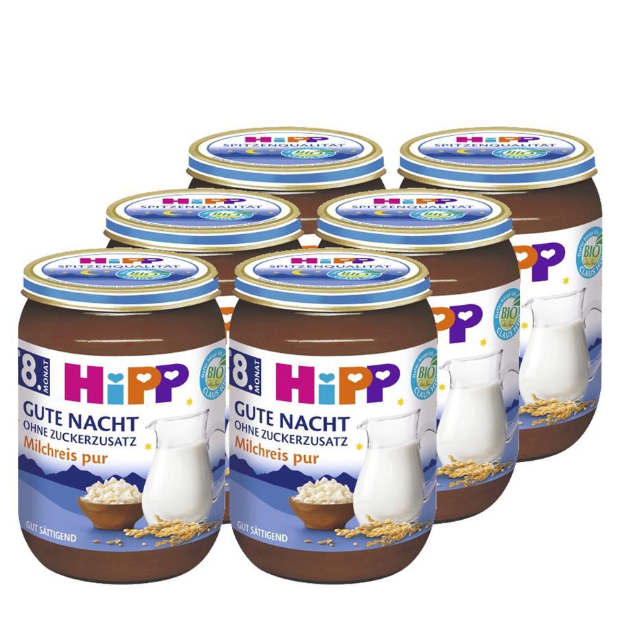 HIPP Bio Gute-Nacht-Brei Milchreis pur 6x190g