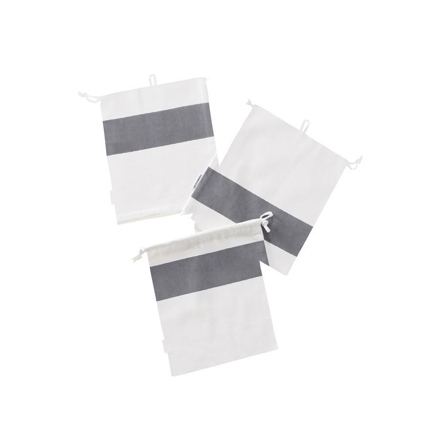 Kids Concept Fabric bag set 3, grey