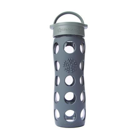 "LIFEFACTORY Skleněná lahev ""graphite"" 470 ml"