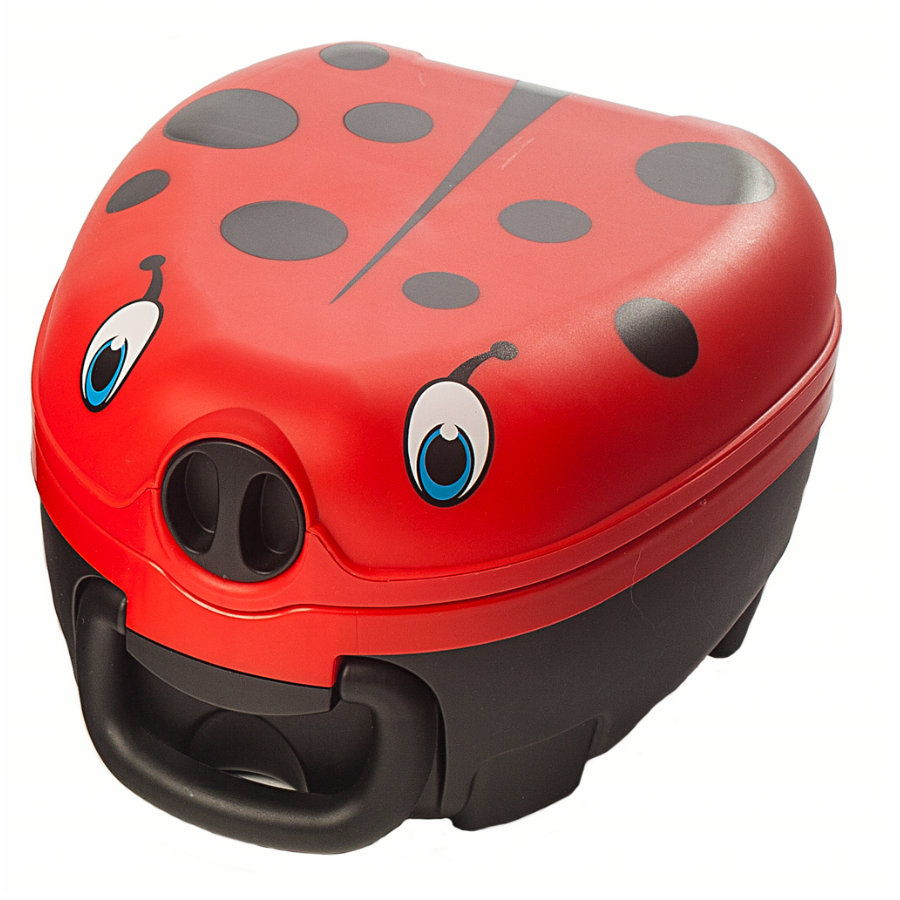 My Carry Potty Pot bébé de voyage coccinelle 18 m+ rouge/noir