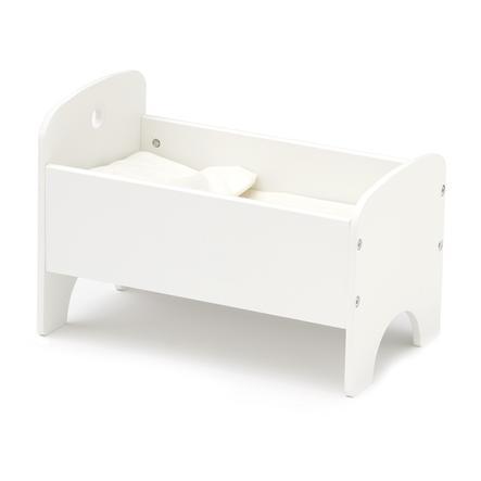 Kids Concept® Poppenbed met beddengoed wit