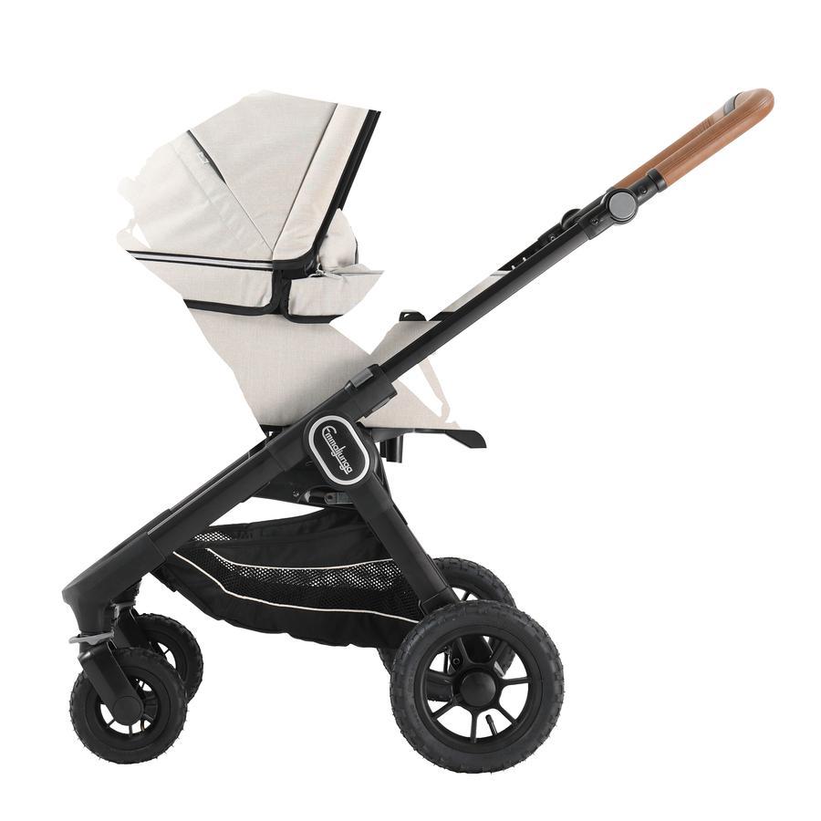 Emmaljunga Kinderwagen NXT 60 mit Wanne Black Outdoor AIR/Lounge Beige